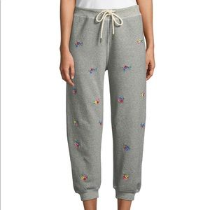 THE GREAT. Pants - NWT The Great. Floral Embroidered Sweatpants Sz 2